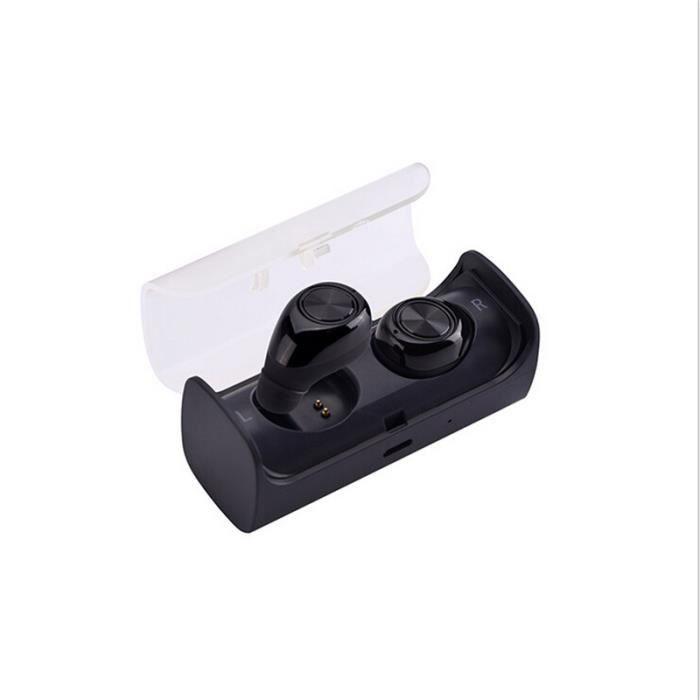 Stéréo Bluetooth Casque Sans Fil Universelle Noir Mini - Sport Courir Le Bruit Bar Isolement Dans L'oreille Des Écouteurs