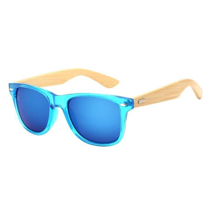 lunettes de soleil mixte homme et femme de Fashion en Retro sunglasses Moderne Cadre marque de Luxe Bleu/Bleu