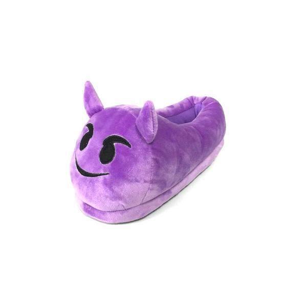 Pantoufles Emoti Devil Expressions Jouets en peluche Chaud Belles chaussures d'hiver émotionnels Neutres pantoufles pour adultes