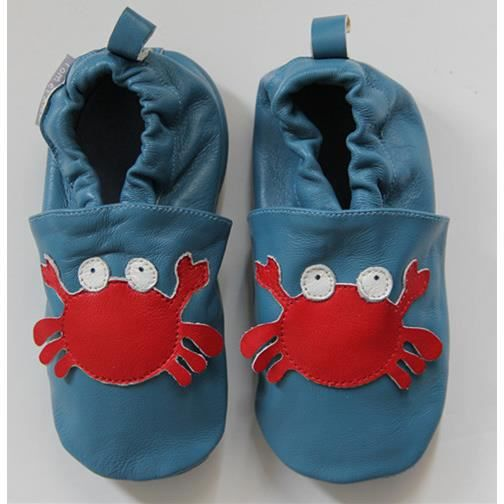 Chaussons ENFANT Cuir Souple 5-6 ANS FUSEE anQky