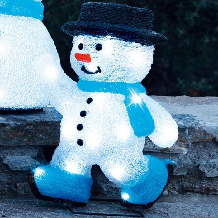 Bonhomme de neige patineur achat vente guirlande d - Bonhomme de neige polystyrene ...
