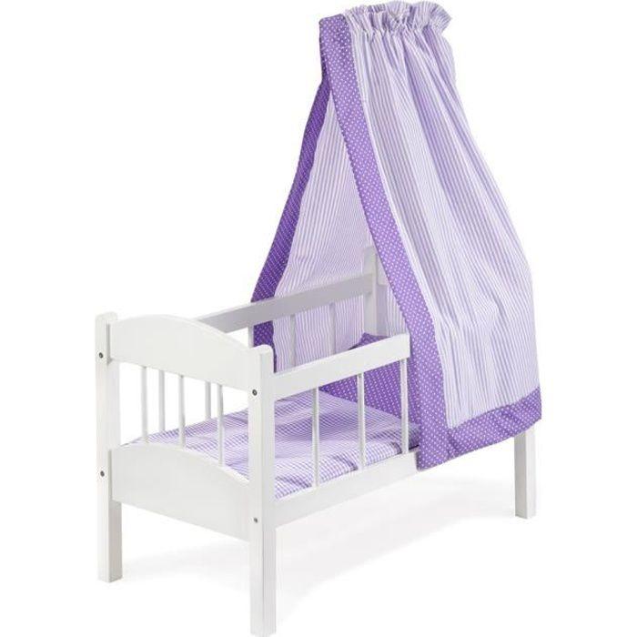 lit pour poupon en bois achat vente jeux et jouets pas chers. Black Bedroom Furniture Sets. Home Design Ideas