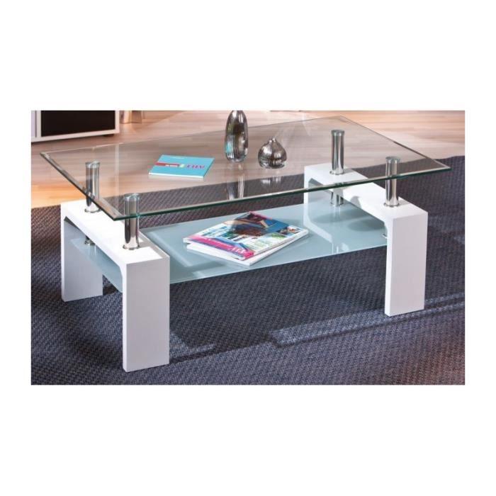 Table basse plateau verre achat vente pas cher - Table basse en verre cdiscount ...