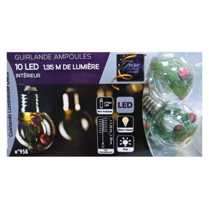 guirlande electrique avec ampoules achat vente guirlande electrique avec ampoules pas cher. Black Bedroom Furniture Sets. Home Design Ideas