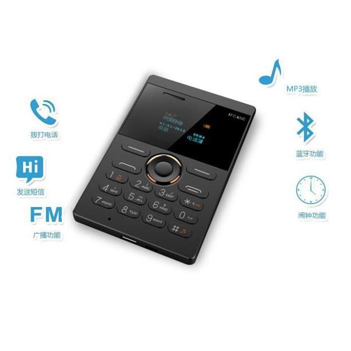 Ifcane e1 aiek e1 mini carte t l phone portable led cran - Telephone portable 8 megapixel ...