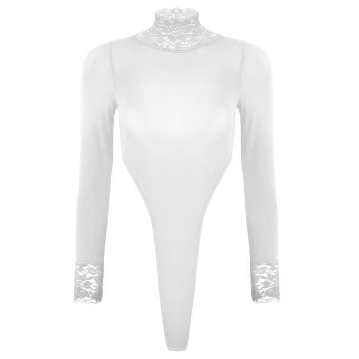 Body Femme sexy - Manches Longues Sous-Vêtements ajustée boîte de nuit ce8d262dd67