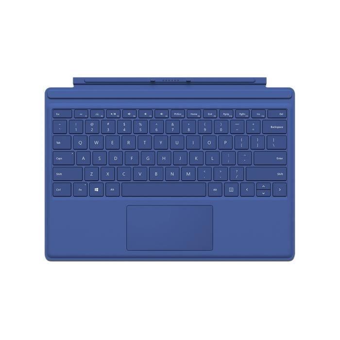 clavier type cover surface pro 4 blue prix pas cher. Black Bedroom Furniture Sets. Home Design Ideas