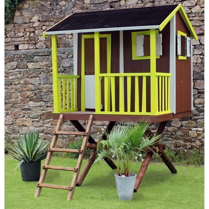 soulet maisonnette bois cabane dans les arbres l 3 45 m p 1 90 m h 2 90 m maison enfant. Black Bedroom Furniture Sets. Home Design Ideas