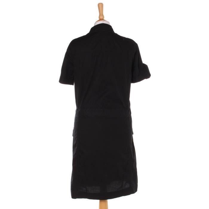 Robe mi-longue COMPTOIR DES COTONNIERS 36 Noir en Coton