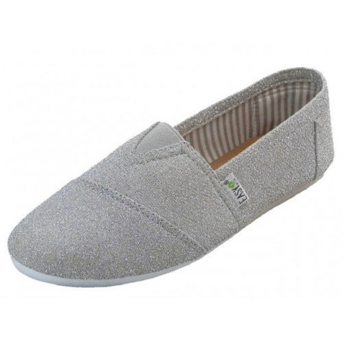 Canvas Slip-on Chaussures avec semelle intérieure rembourrée AAPQN Taille-42