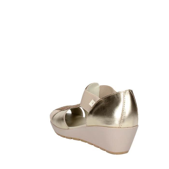 Cinzia Soft Sandale Femme Platine , 40