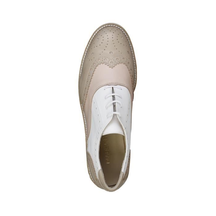 Made in Italia - Chaussures à lacet pour femme (NILDE_TAUPE_PESCA_BIANCO) - Brun IKezDtHS