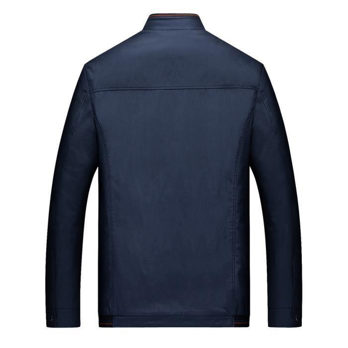 Hiver Épaississement Business Manteau Casual Marine Veste Col Stand Cachemire Zipper Men rqwrxYHP