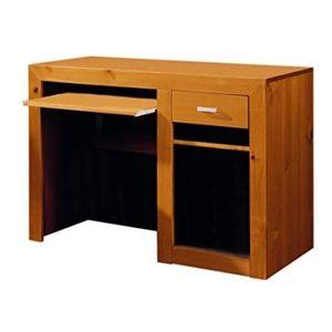 MEUBLE INFORMATIQUE Bureau en bois de pin massif couleur cerise avec t