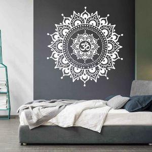 OBJET DÉCORATION MURALE Mandala Fleur Indien Chambre Salon Stickers Muraux