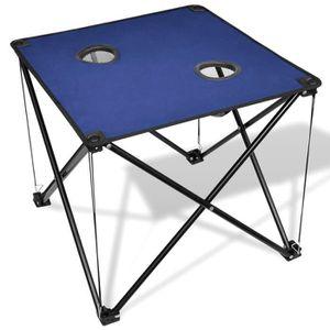 TABLE DE CAMPING P168 Table de camping pliante bleue