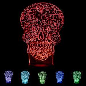 Squelette De Usb En 3d Bois Le Nuit Lampe Base Motif Lumière Rj54ScL3Aq