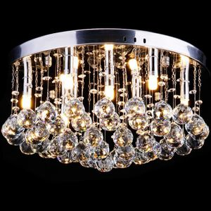 LUSTRE ET SUSPENSION  CCLIFE Lustre en cristal Luminaire Plafonnier (20
