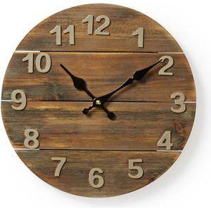 HORLOGE - PENDULE NEDIS Horloge murale circulaire - Ø 30 cm - Bois