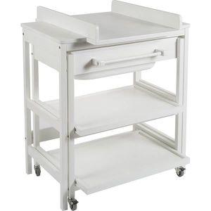 TABLE À LANGER Meuble de bain bébé comfort smart White