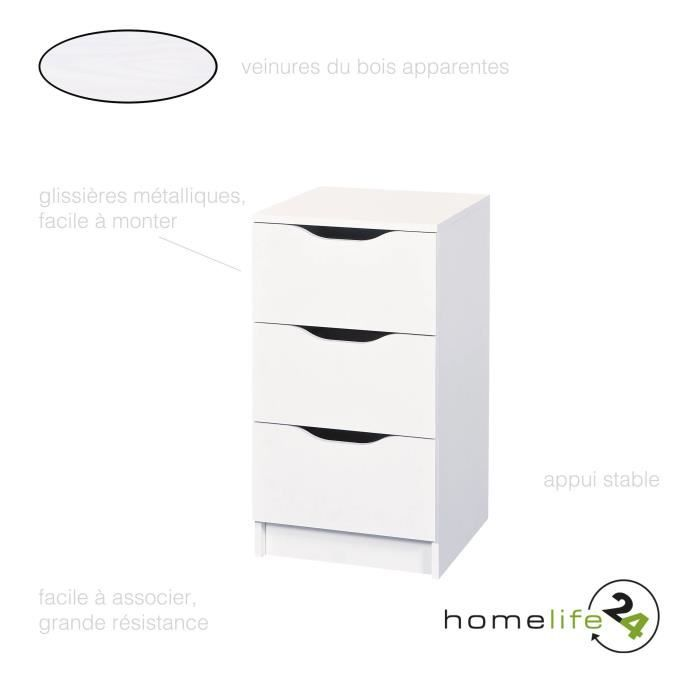 Commode 3 Tiroirs Commode Chambre Blanche Commode Chambre Enfant Commode A Tiroir Commode Blanc Mat Commode Pas Cher