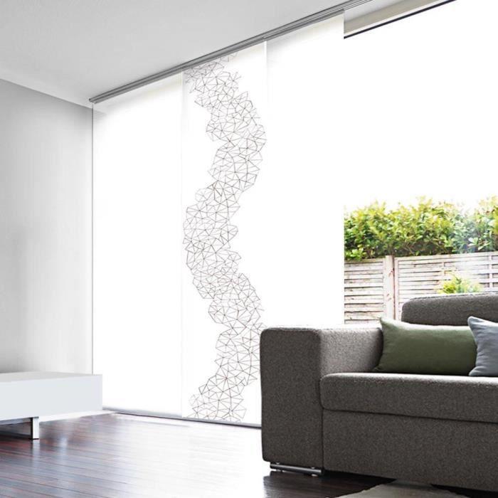 panneau japonais voile blanc d vor prisme 45cm x 260cm achat vente panneau japonais cdiscount. Black Bedroom Furniture Sets. Home Design Ideas