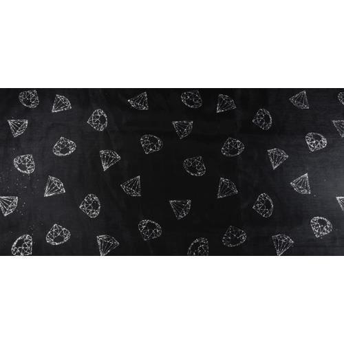 chemin de table diamants 36cmx5m noir argent - achat / vente