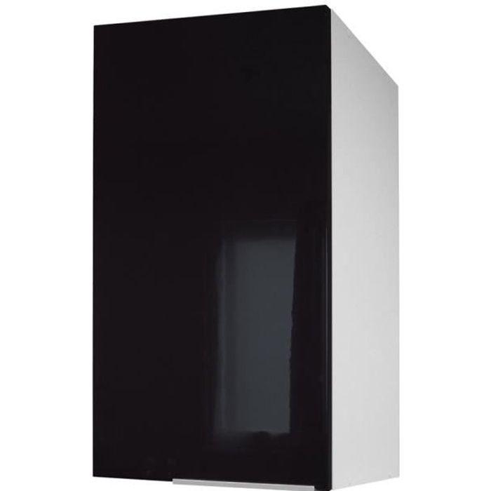 Pop meuble haut de cuisine l 40 cm noir haute brillance achat vente l ments haut caisson - Hauteur des meubles de cuisine ...