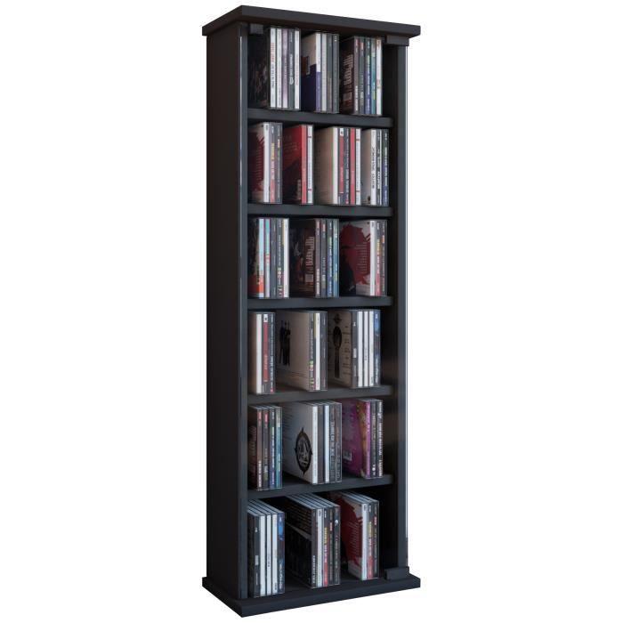 VETRO commode tour rangement bibliothèque CD-DVD 150 CD Noir - Achat / Vente commode de chambre ...