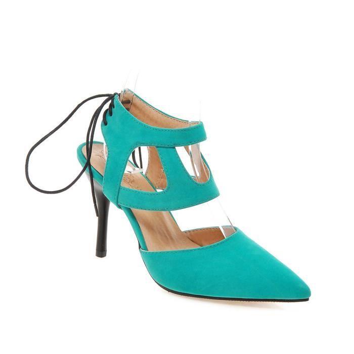 2016 Les Des Noir À Talons Hauts vert rouge Cha Chaussures Sexy 4S1cxqwCr4