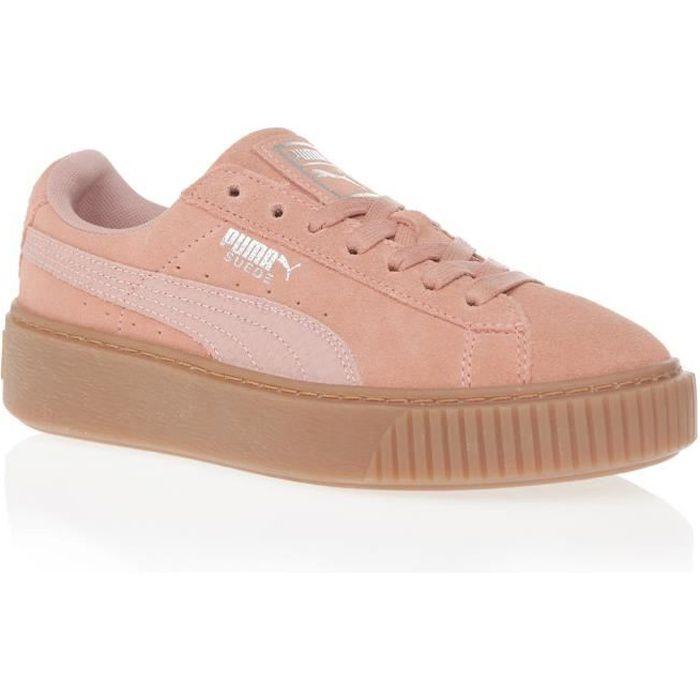 PUMA Baskets Suede Platform Gum Femme Rose