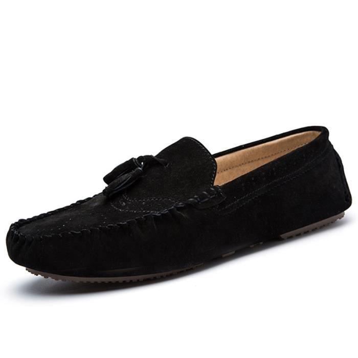 chaussure homme mocassin de ville en cuir en daim talons. Black Bedroom Furniture Sets. Home Design Ideas