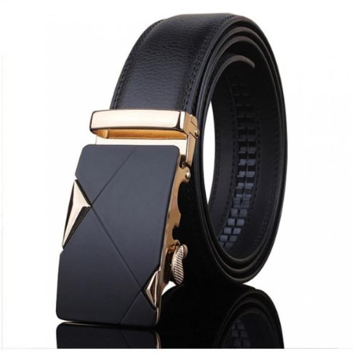 a901d29d491 Ceinture homme luxe losange doré Noir Noir - Achat   Vente ceinture ...