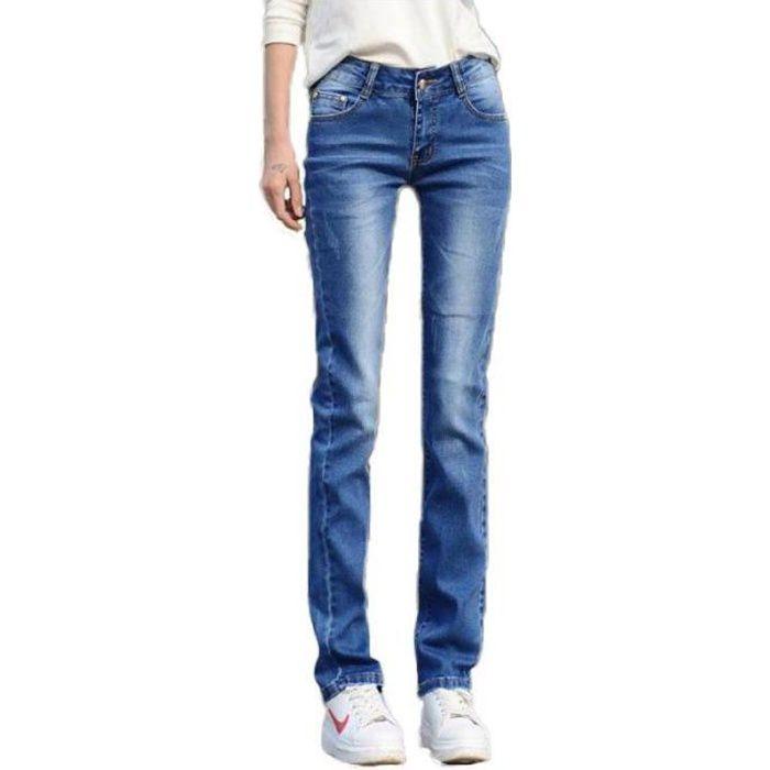 d44674630b Jeans femme coupe droite - Achat / Vente pas cher