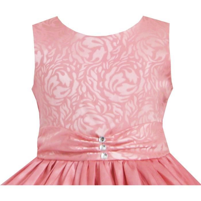 Robe Fille Coral Multi-couches Diamant Reconstitution historique Mariage 2-12 ans