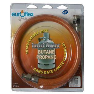 BRASERO TYPE TFEM GPL INOX 100 Flexible NF inox butane/propane ? 1 m?tre