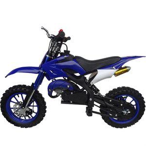 KXD Moto Dirt Bike 50cc Enfant Bleue