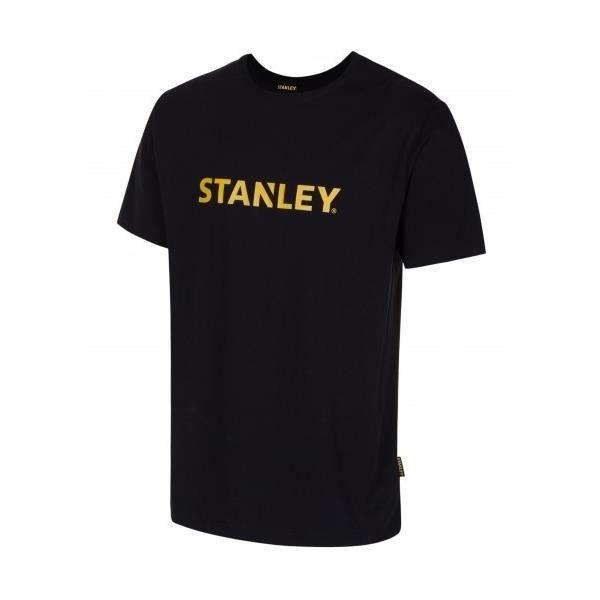 STANLEY T-shirt Lyon 100% coton - Mixte - Noir