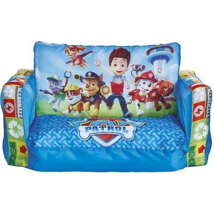WORLDS APART PAT PATROUILLE Canapé Enfant Gonflable et Dépliable 2 en 1