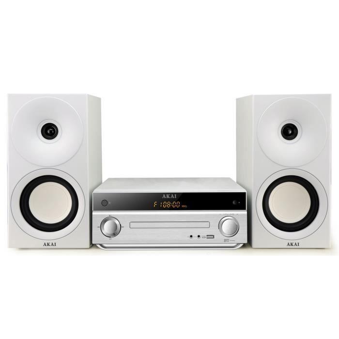 AKAI AM-301W Micro Chaîne HiFi CD MP3 Bluetooth
