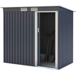 ABRI JARDIN - CHALET Abri de jardin en métal 2,43m² - 1 porte coulissan