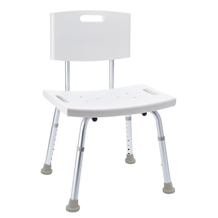 chaise de salle de bain ajustable en hauteur achat. Black Bedroom Furniture Sets. Home Design Ideas