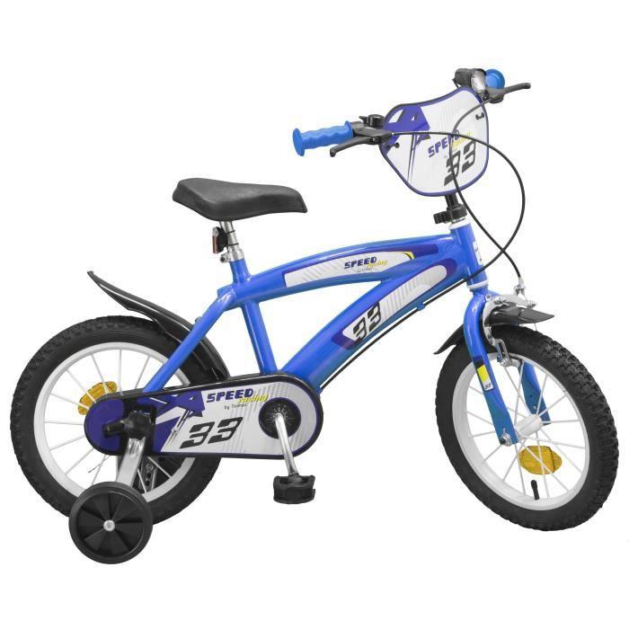 """VÉLO ENFANT Vélo 14"""" Speed - Garçon - Bleu"""
