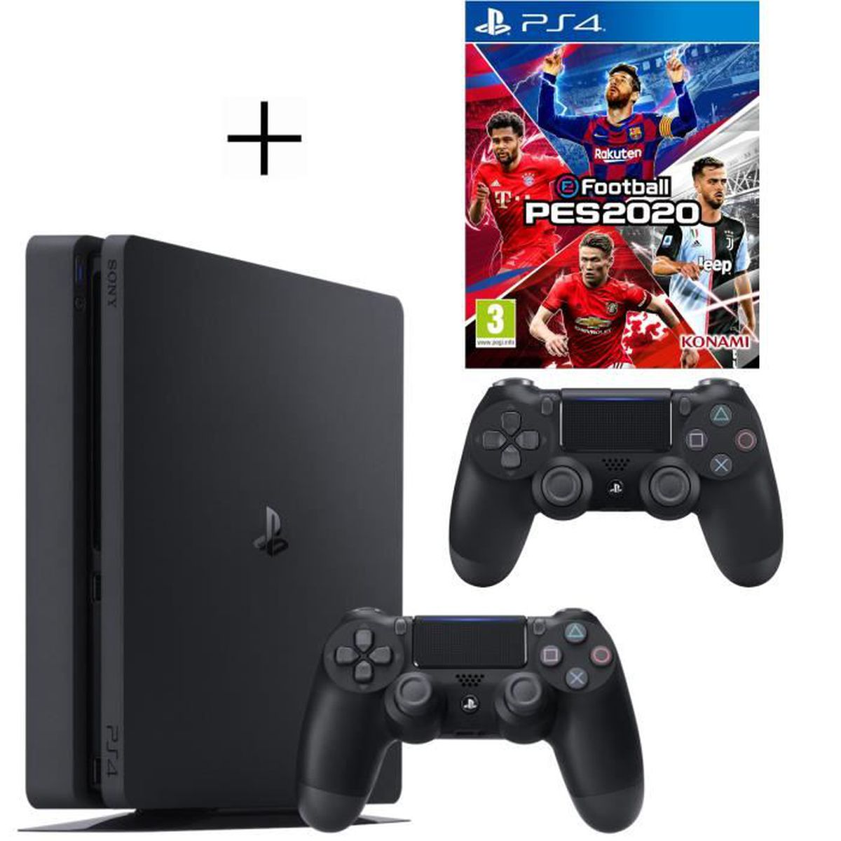 CONSOLE PS4 Pack Playstation : PS4 500Go + eFootball PES 2020