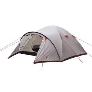 TENTE DE CAMPING WILSA Tente Corte - 4 places - Gris et rouge