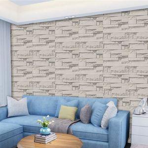 mur 3d effet brique rustique pierre auto adh sif. Black Bedroom Furniture Sets. Home Design Ideas
