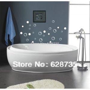 Salle de bain tanche stickers carrelage 50 bulles de - Stickers sur carrelage salle de bain ...