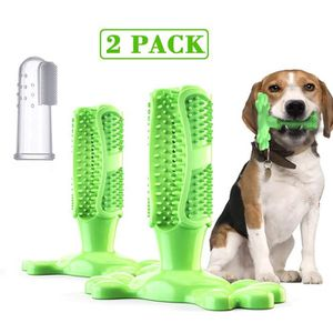 BROSSE - CARDE Weiqiao® 2 Pack Brosse à Dents Chien Jouet Brossag