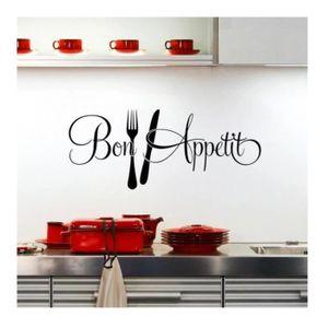 STICKERS Bon appetit cuisine stickers muraux décoration de