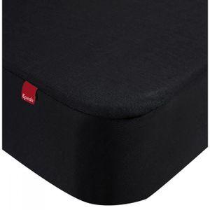 DRAP HOUSSE Drap housse Epeda 2 en 1 noir 80x190